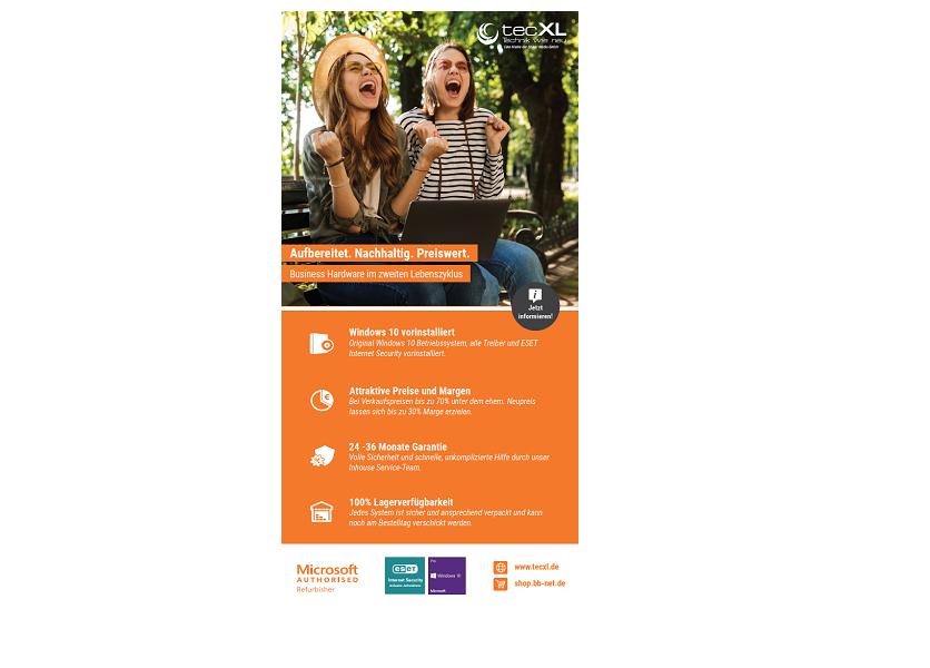 tecXL Rollup - Emotional und Vorteile - shop.bb-net.de